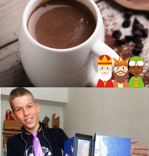 Chocolatada el día de reyes