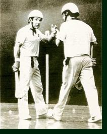 Manolo Iturri y Arribillaga I, en un lance del partido