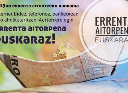 La declaración de la renta en euskera